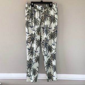 Soft Surroundings Relax Tropical Palm Tree Pants